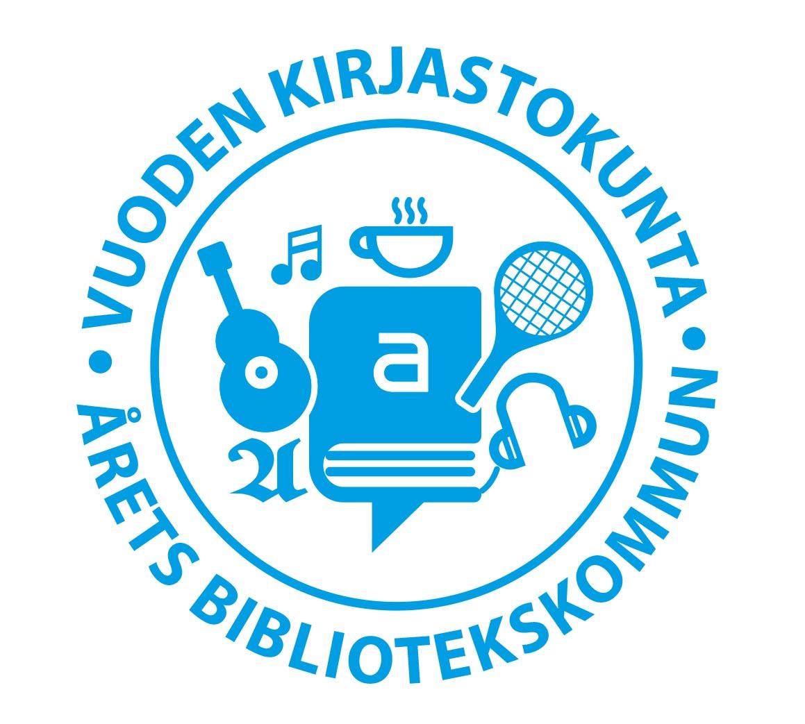Vuoden kirjastokunta logo
